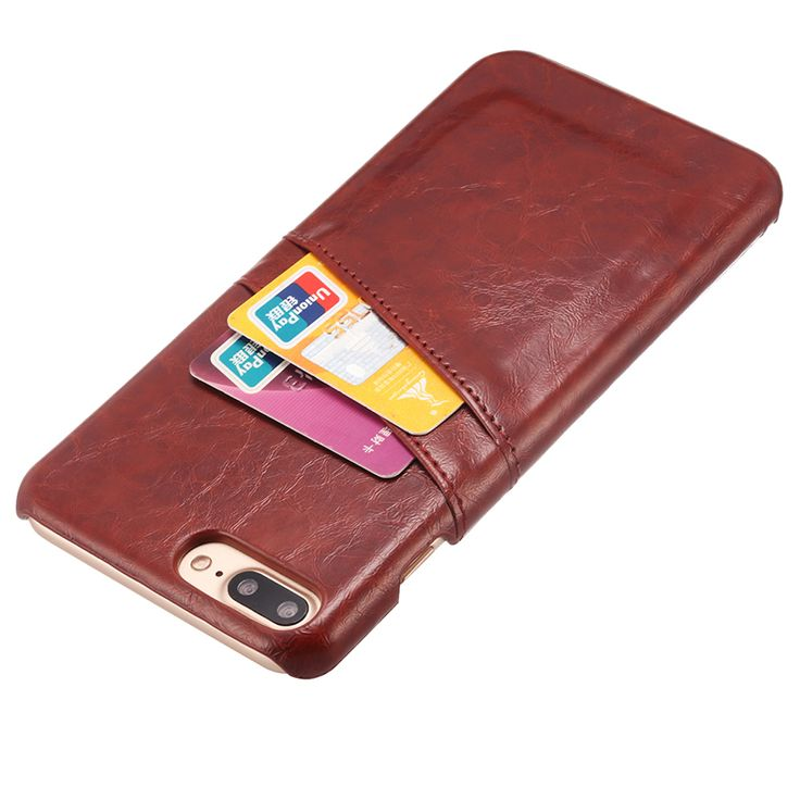 7 Plus Phone Vintage Style Wax PU Leather With Card Holder Back Cover Case For iPhone 7 / 7 Plus Bag Fundas Capa