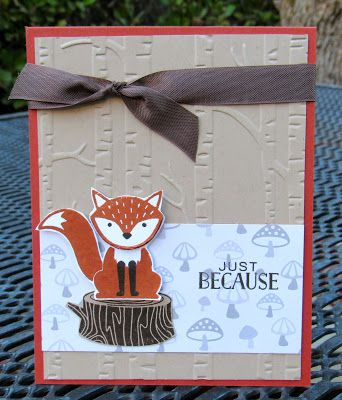 Stampin' Up! Foxy Friends Krystal's Cards #stampinup #foxyfriends #krystals_cards