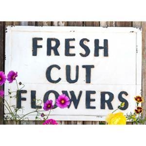 Metal Flower Sign | Nebraska Furniture Mart