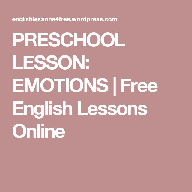 PRESCHOOL LESSON: EMOTIONS | Free English Lessons Online