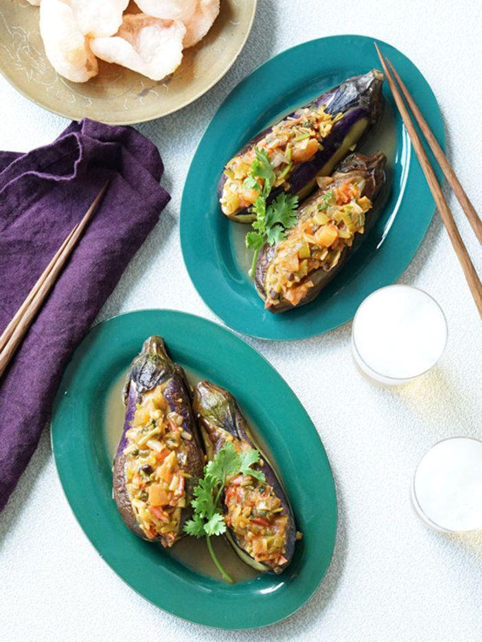 なすと花椒のマッチングが絶妙のおいしさ。友人や家族にリクエストされること、請け合い!|『ELLE a table』はおしゃれで簡単なレシピが満載!