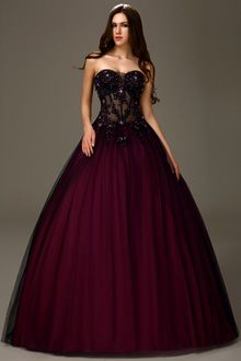 Burgundy prom dresses,red burgundy dresses for prom - VictoriaProm
