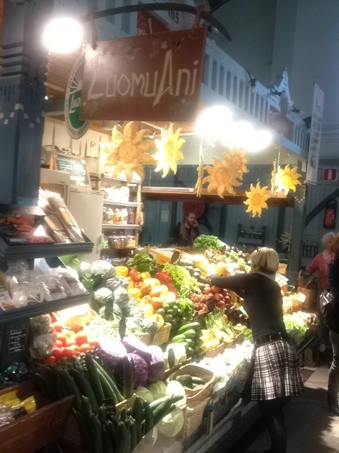 A marketplace in Tampere, Finland. All kinds of different vendors there, worth a visit!