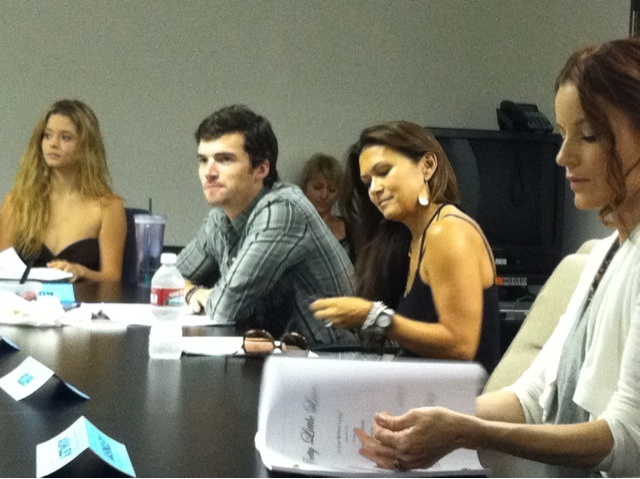 Ian Harding,Laura Leighton,Sasha Pieterse, and Nia Peeples at one of the cast readings