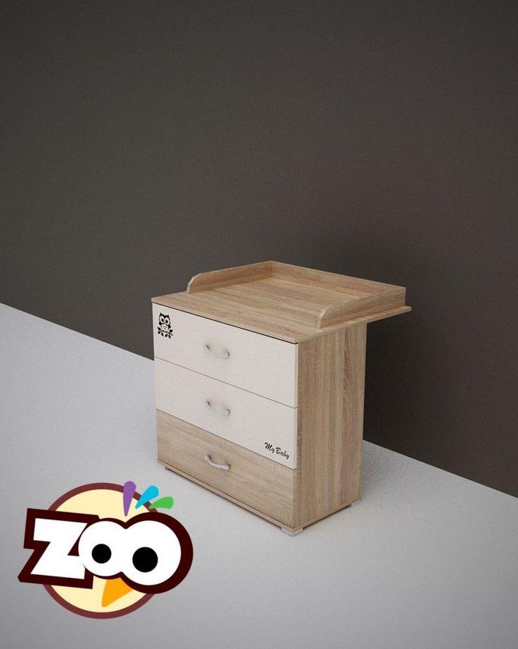 Todi zoo 3 fiókos pelenkázószekrény