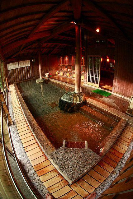 Hot spring in Nikko, Japan