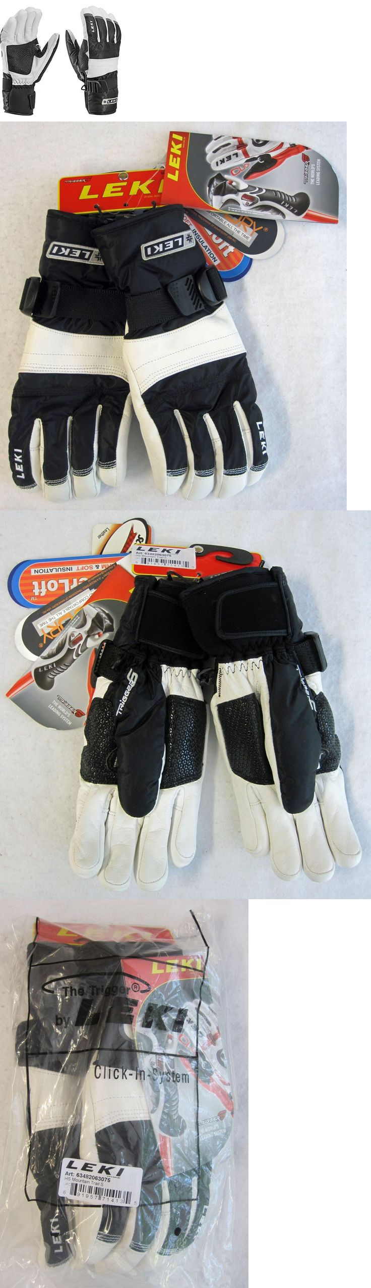 Gloves and Mittens 62172: New Leki Mountain Trail S Ski Gloves - Unisex Sizes 6.5, 7.0, 7.5, 8.0, 8.5 -> BUY IT NOW ONLY: $69.0 on eBay!