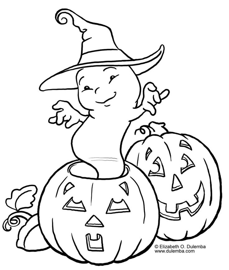 Halloween Pumpkin Colouring Pages For Kids