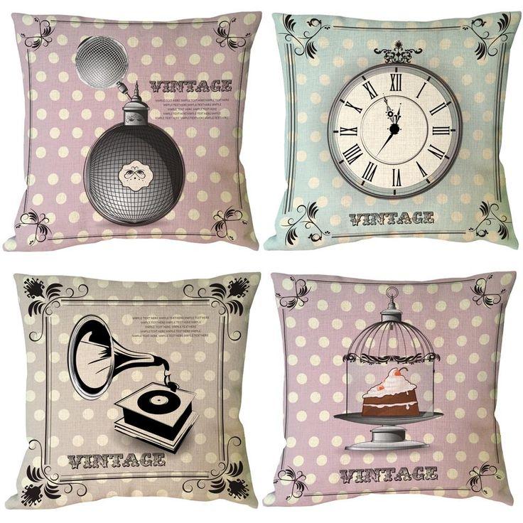 Винтажный стиль персонализированные пользовательские акцент белье подушки бросить подушку чехол декоративные наволочки для диван Coussin Cojin