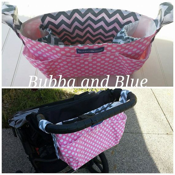 Stroller organizer bag fits most stroller. If you have a stroller that is a double or has a more upright or more vertical handle I sell stroller