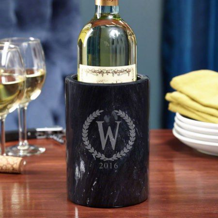Statesman Personalized Marble Wine Chiller - tap, personalize, buy right now!
