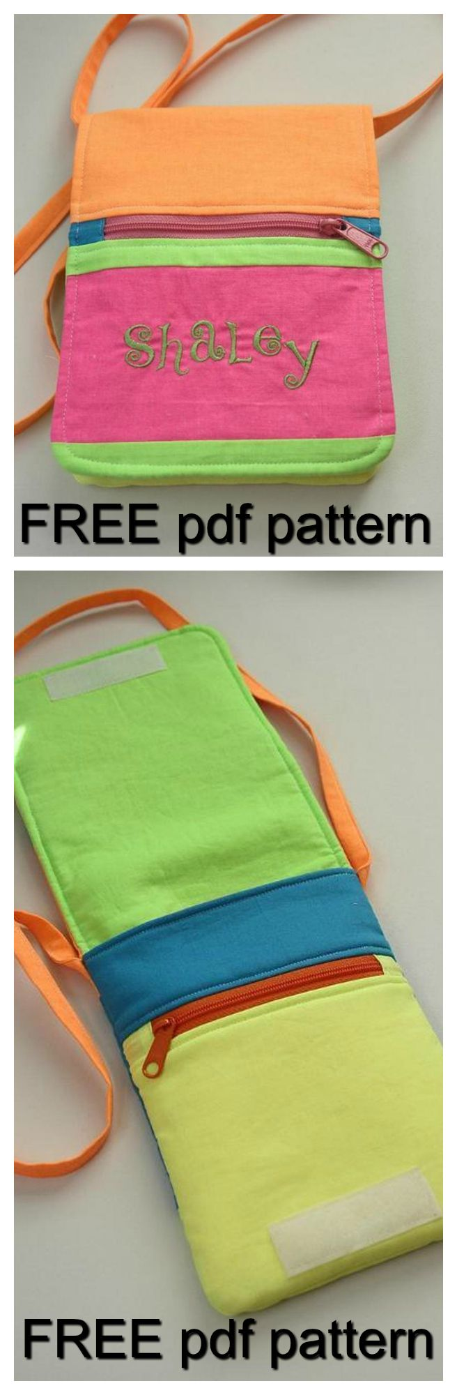 FREE downloadable pdf bag sewing pattern. This super easy hip pouch features a roomy interior pocket, two zipper pockets and a large flap to keep it all secure. It's small enough to use for quick trips when you only need the essentials, but large enough to hold everything you need.