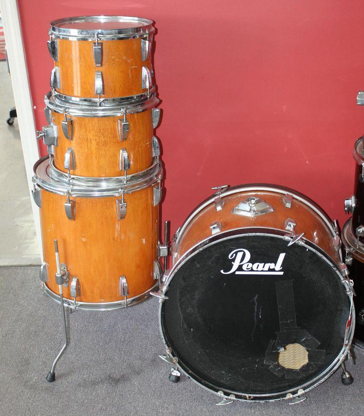 Sonor 4 Piece Drum Set Natural Vintage
