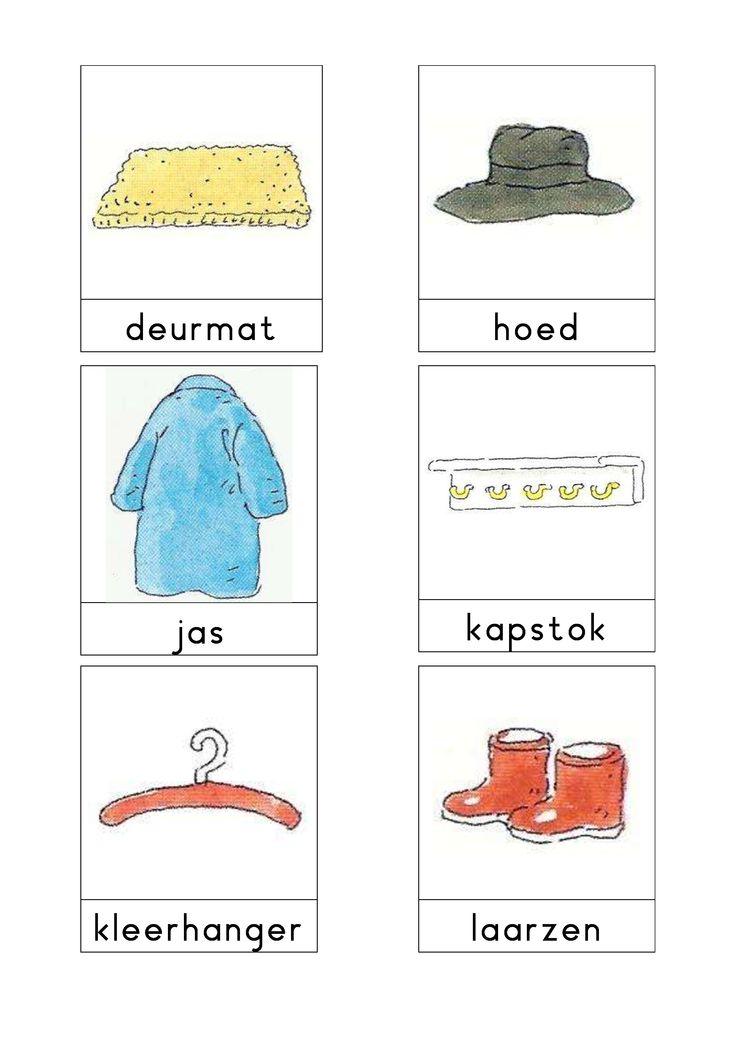 Woordkaarten Bas 'De hal' 1