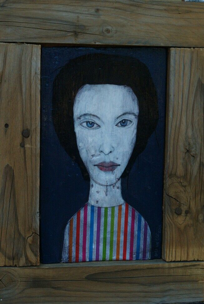 Acrylic on wood  artist glenn cox