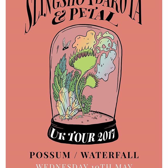 hey leeds ✌🏼 tonight @slingshotdakota & @petal_pa play wharf chambers. it's going to be twinkly & lovely. doors 7pm. tickets £7 adv / £9 otd. support from @waterfall_uk & @possumsongs. we'll have issue four with us too. see you there for a nice time ✨🌸🌿🌼
