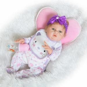 22-034-Handmade-Lifelike-Reborn-Newborn-Baby-Doll-Full-Silicone-Vinyl-Bath-Girl-Toy