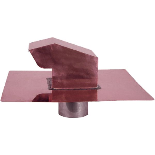 """Roof Vent Cap for use with clothes dryer, bathroom fan, stove and kitchen exhaust and more.  Avaialbe for up to 12"""" diameter pipe.  Can be ordered with a one way damper and / or screen.  Made out of copper, stainless steel, or hammered copper."""