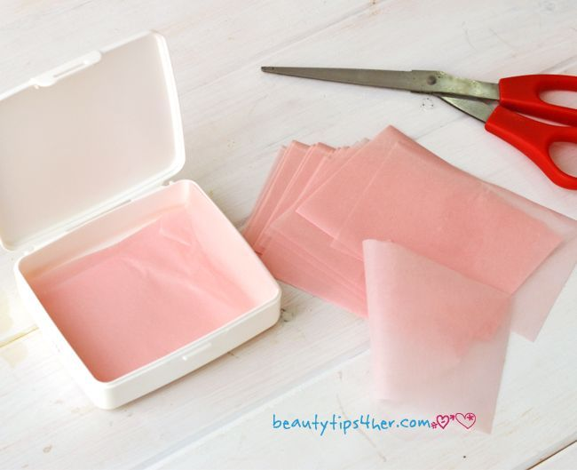 DIY Rice paper oil absorbing sheets