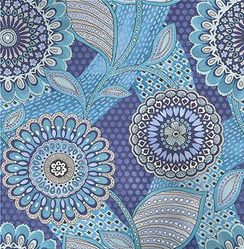 Retro Floral Aqua wallpaper by Eijffinger