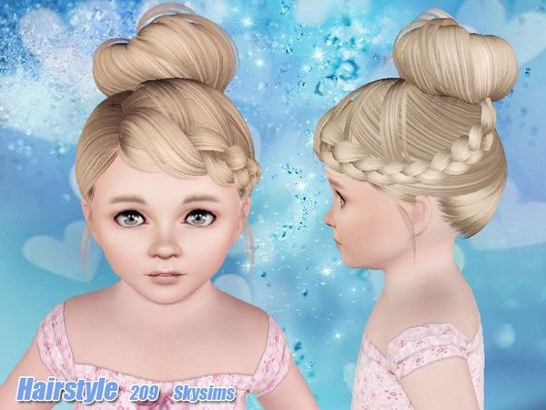 Skysims Hair Toddler 209I Sims 4 toddler, Toddler hair