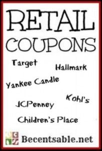 Retail Coupons: Kohl's, JCPenney, Famous Footwear And More (big list)