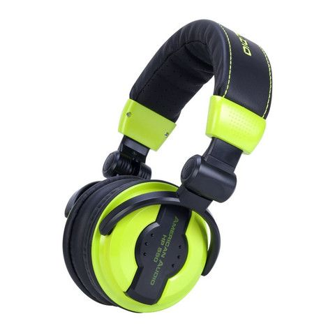 American Audio - Professional Foldable DJ Headphones - HP550 - Lime Green – Ripster