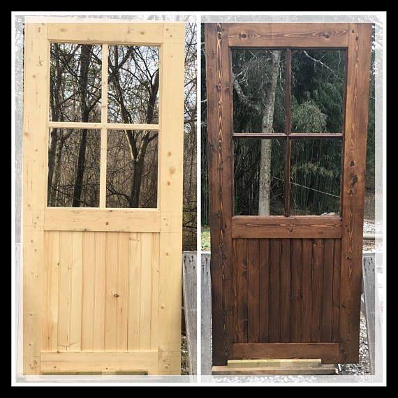 Half Lite Four Window Pane Farmhouse Entry Door Front Door Home Door Residential Door Replacement Doors Fir Entry Door Entry Doors Farmhouse Entry
