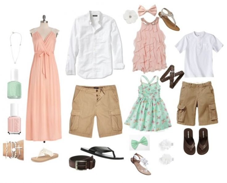 what to wear beach family photos - Google Search