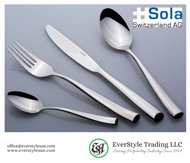 #Vail Flatware From #SolaSwitzerland, Highest Quality, With Their  Extraordinary Designs And Perfect