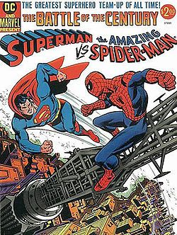 Superman vs. the Amazing Spider-Man :: Portada por Carmine Infantino, Ross Andru y Dick Giordano.