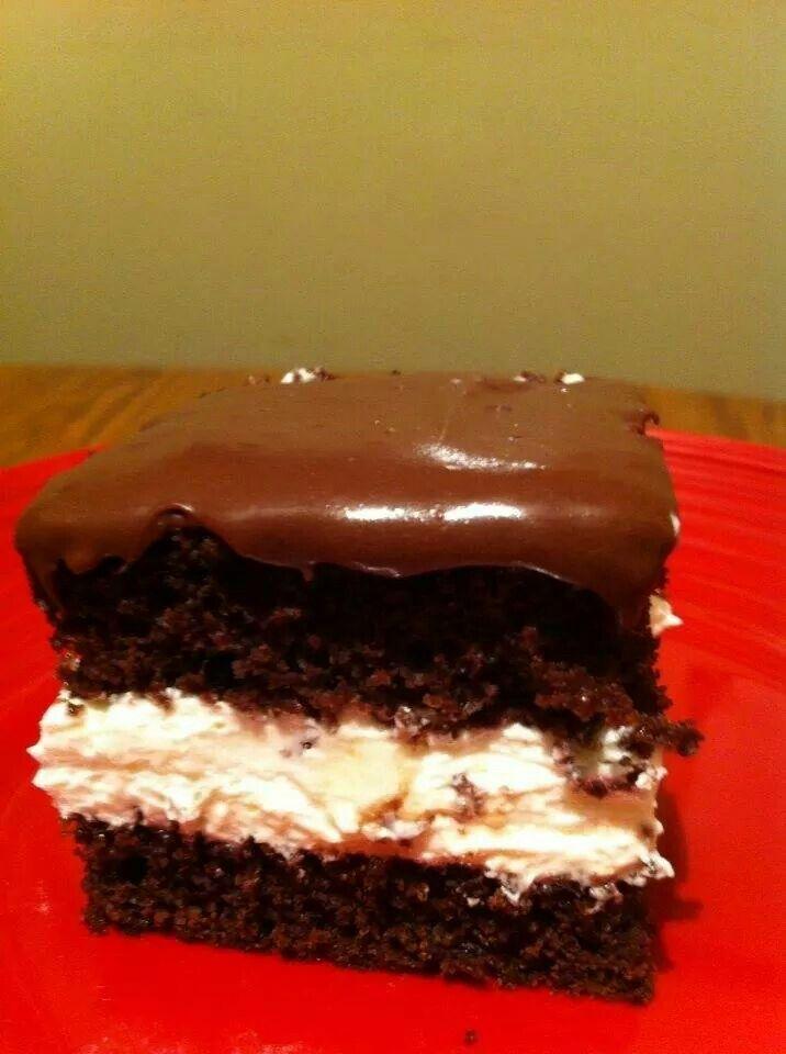 Chocolate cream filled cake