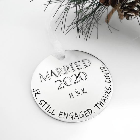 Postponed Wedding Gift 2020 Christmas Ornament Personalized Etsy In 2020 Wedding Christmas Ornaments Wedding Gifts Wedding Gifts For Couples