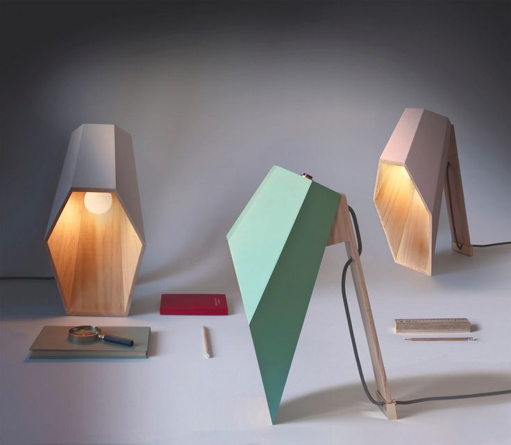 Woodspot: A Lamp with an Unusual Profile //admired by http://www.truelatvia.com