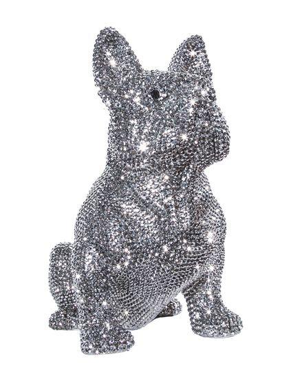 French Bulldog Bank, covered in Swarovski 'Diamonds'.