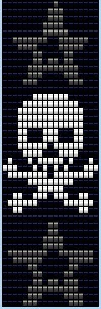 esquema - I wish I'd found this for Dad. I just couldn't get the skull and crossbones right for him on the loom.