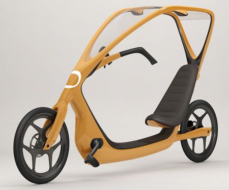 Cool bike designed by Torkel Dohmers comes with a clear roof.