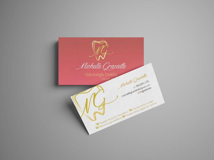 Cartão de Visita de Dra. #dentista #estetica #branding #tooth