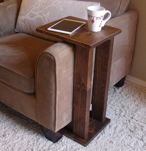 Handcrafted tray table stand. The perfect addition to a sofa chair in any home, apartment, or man cave. It has been sanded down, then stained and