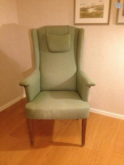 "Carl Malmsten, armchair model ""Ane"". Love the soft powder green color!  On sale: http://www.blocket.se/stockholm/Carl_Malmsten_fatolj_57273532.htm?ca=23_11&w=3"