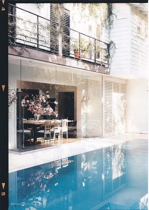 One of Collette Dinnigan homes - I can think of a Sydney home that should have this look.
