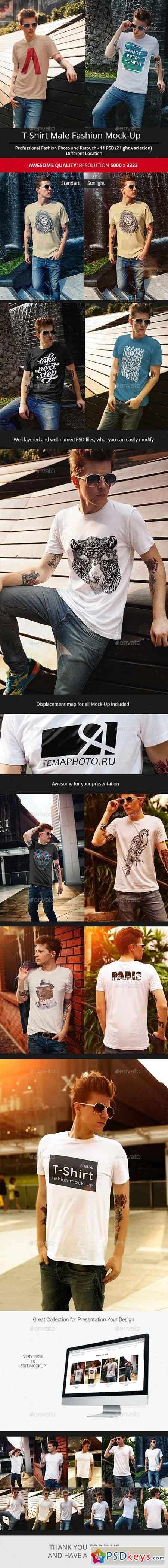 Male T-Shirt Fashion Mock-Up 16659898