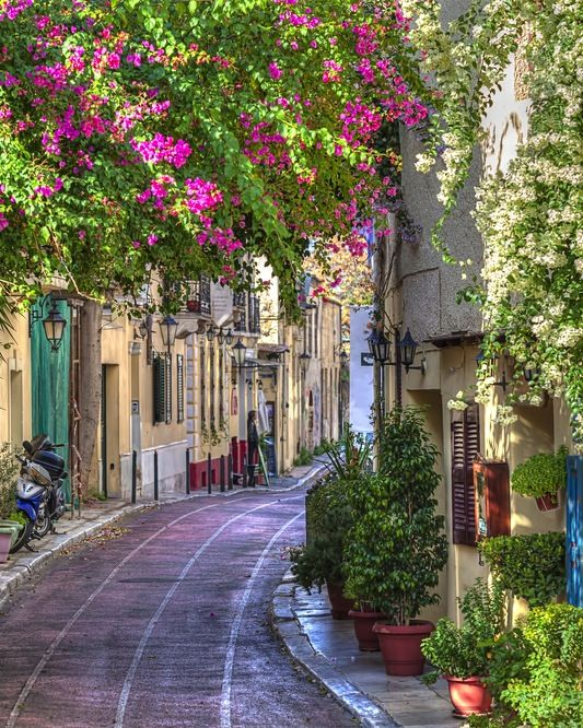 The Streets of Athens, Greece.