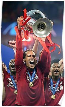 Best Moment Liverpool Picture Champion Virgil 2019 Van Dijk Winner Art Print Poster