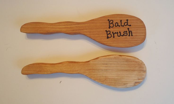Funny Gag Gift Bald Brush. Giggle. by JunqueCoutureHome on Etsy
