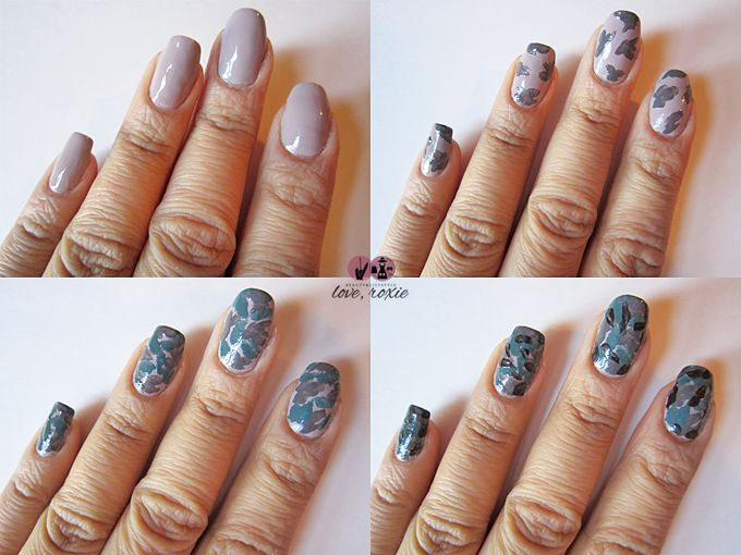 Check out this creative CAMO nail art tutorial by Lacquer Cabinet    Camo Nail Art Tutorial