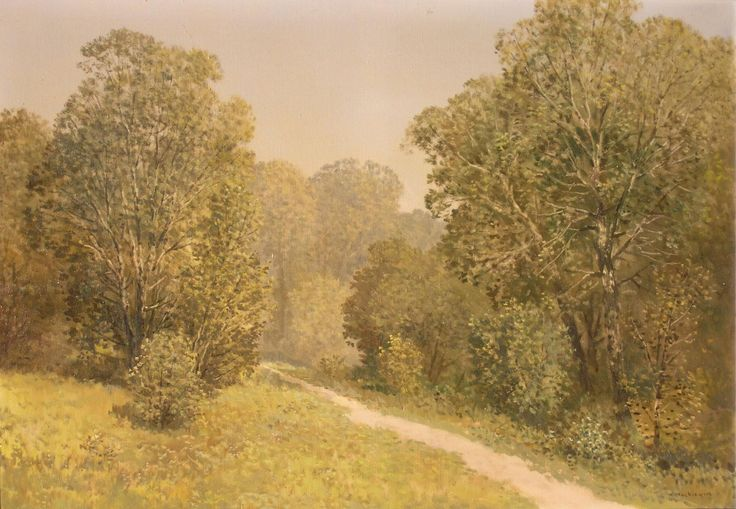 Konstanty MACKIEWICZ ,Leśna droga , olej, płótno, 70 x 100 cm