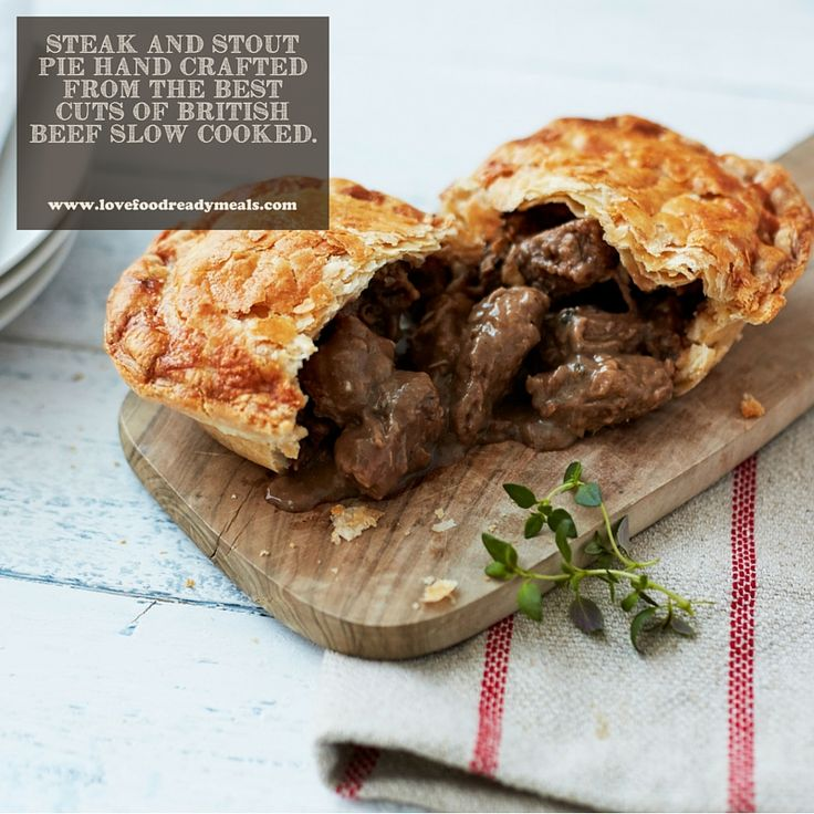 A best selling pie, the Steak and Stout Pie is hand crafted from only the best cuts of British beef slow cooked to create a mouthwatering experience. Crammed to the crust with real chunks of beef steak in a rich gravy, fortified by a drop of the finest stout.  The combination of a light puff pastry top and a traditional short crust pastry base ensures that all of the deliciously intense flavours are sealed in.