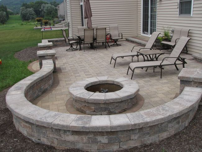 Cambridge fire pit - Google Search | Patio pavers design ... on Paver Patio Designs With Fire Pit id=62632