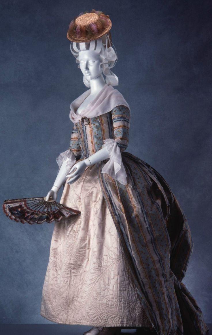 Robe à la polonaise: ca. 1765-1780, European, silk.